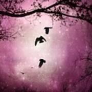 Brilliant Pink Surreal Sky Art Print