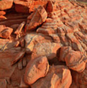 Brilliantly Colored Sandstone At Sunrise In Valley Of Fire Art Print