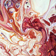 Bringing Into Life Fragment 2. Fluid Acrylic Painting Art Print