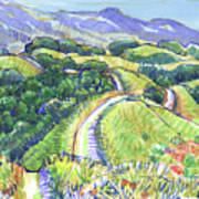 Briones Crest In May, Lafayette, Ca Art Print