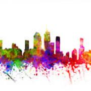 Brisbane Australia Cityscape 02 Art Print
