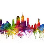 Brisbane Australia Cityscape 06 Art Print