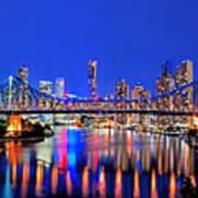 Brisbane In Late Evening Art Print