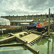 Bristol Barge Dry Dock  Art Print