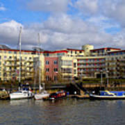 Bristol Harbour Appartments Art Print