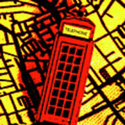 Brit Phone Box Art Print
