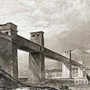 Britannia Bridge Across Menai Strait Art Print