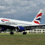 British Airways A318-112 G-eunb Art Print