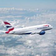 British Airways Airbus A380-841 Art Print