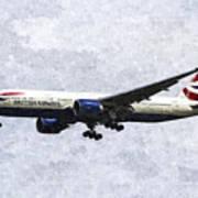 British Airways Boeing 777 Art Art Print