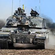 British Army Challenger 2 Main Battle Tank   Art Print
