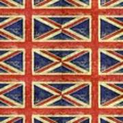 British Flag Collage One Art Print