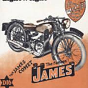 British James Comet Motorcycle  1948 Art Print