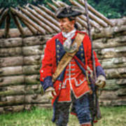 British Officer At Fort Ligonier 1758 Art Print