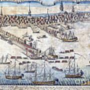 British Ships Of War, Landing Troops Art Print