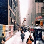 Broadway And 42nd Street 1985 Art Print