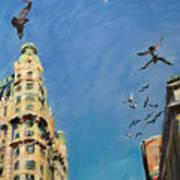 Broadway Pigeons No. 1 Art Print