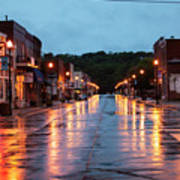 Broadway St. Excelsior Springs, Mo Art Print