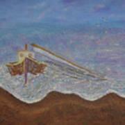 Brocken Mast Art Print