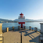 Brockton Point Lighthouse At Stanley Park Art Print