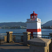 Brockton Point Lighthouse In Vancouver Bc Art Print