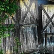 Broken Barn Door Art Print by Joyce Kimble Smith