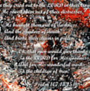 Broken Chains With Scripture Art Print