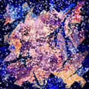 Broken Glass And A Snowstorm Art Print