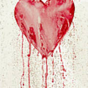 Broken Heart - Bleeding Heart Art Print