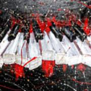 Broken Keys Red Art Print