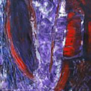 Broken Purple Heart Art Print