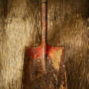 Tools On Wood 2 Art Print