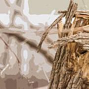 Broken Tree Base Art Print