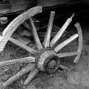 Broken Wheel Art Print