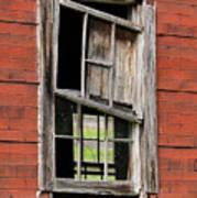Broken Window Frame Art Print