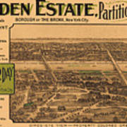 1909 Bronx New York Realtor Flyer Art Print