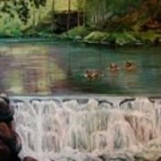 Bronxville Lake Art Print