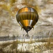 Bronze Beach Ballooning Art Print