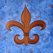 Bronze Fleur De Lis Art Print