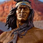 Bronze Native Art Print