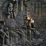 Bronze Sculptured Church Door - Slovenia Art Print