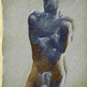 Bronze Statue Art Print