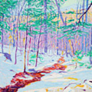 Brook In Winter, 1914 Art Print