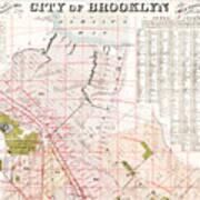 Brooklyn 1893 Map Art Print