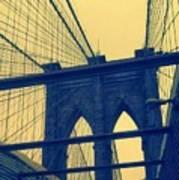 New York City's Famous Brooklyn Bridge Art Print
