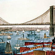 Brooklyn Bridge, 1872 Art Print