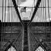 Brooklyn Bridge Bw Art Print