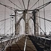 Brooklyn Bridge By Art Farrar Photographs, Ny 1930 Art Print