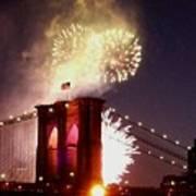 Brooklyn Bridge Celebration Art Print