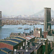 Brooklyn Bridge Circa 1904 Art Print